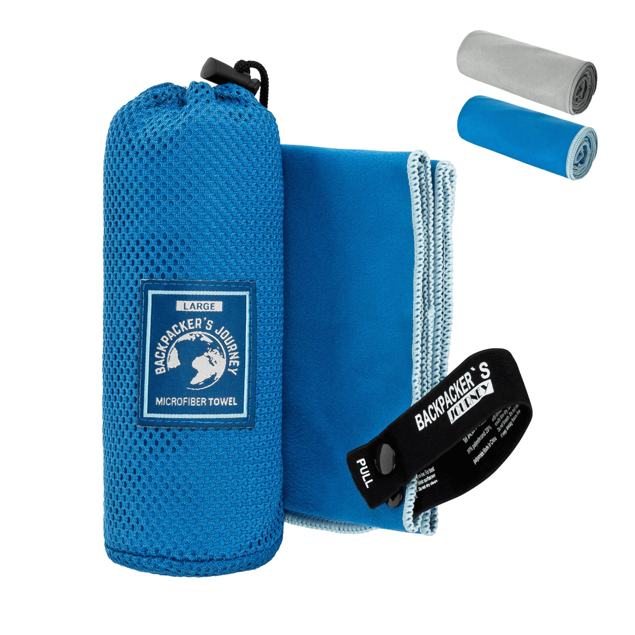 Reisehandtuch f/ür Backpacking antibakteriell Journext/® Mikrofaser Handtuch Ultraleicht leicht schnelltrocknend